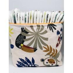 Corbeille lingettes/ feuilles de toilette Oeko tex