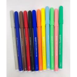 Lot 12 feutres textiles bioplastiques Coloriage